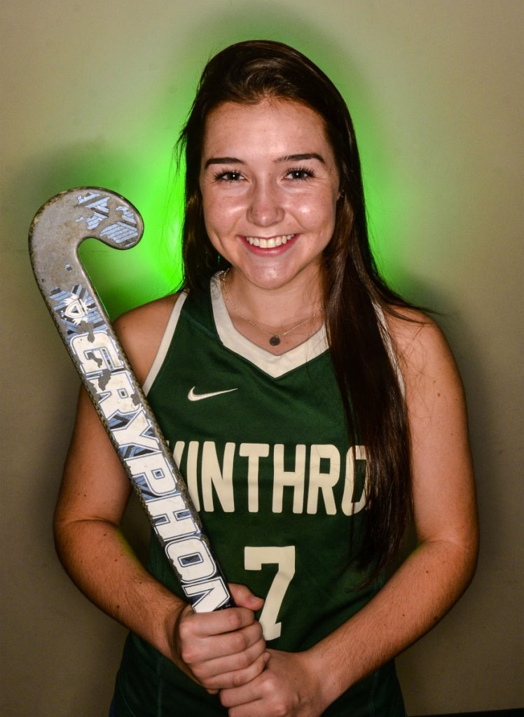 Winthrop's Moriah Hajduck is the Kennebec Journal Field Hockey Player of the Year.