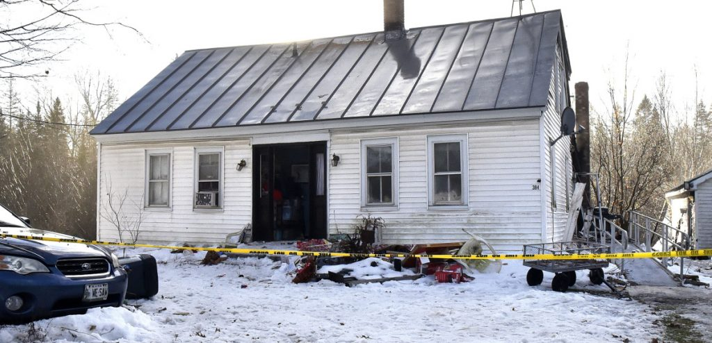 This home at 384 Bangor Road in Troy received serious damage from a fire on Sunday evening.