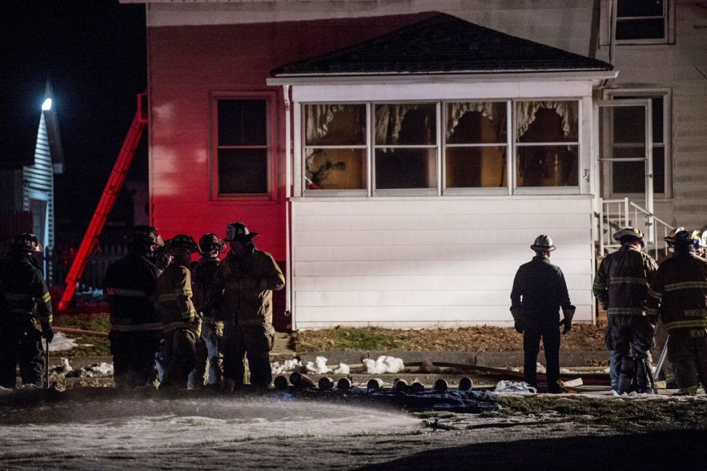 Firefighters from Waterville and Winslow fire departments responded to a duplex fire on Green Street in Waterville on Saturday. Investigators converged on the scene Monday to determine the cause of the fire.