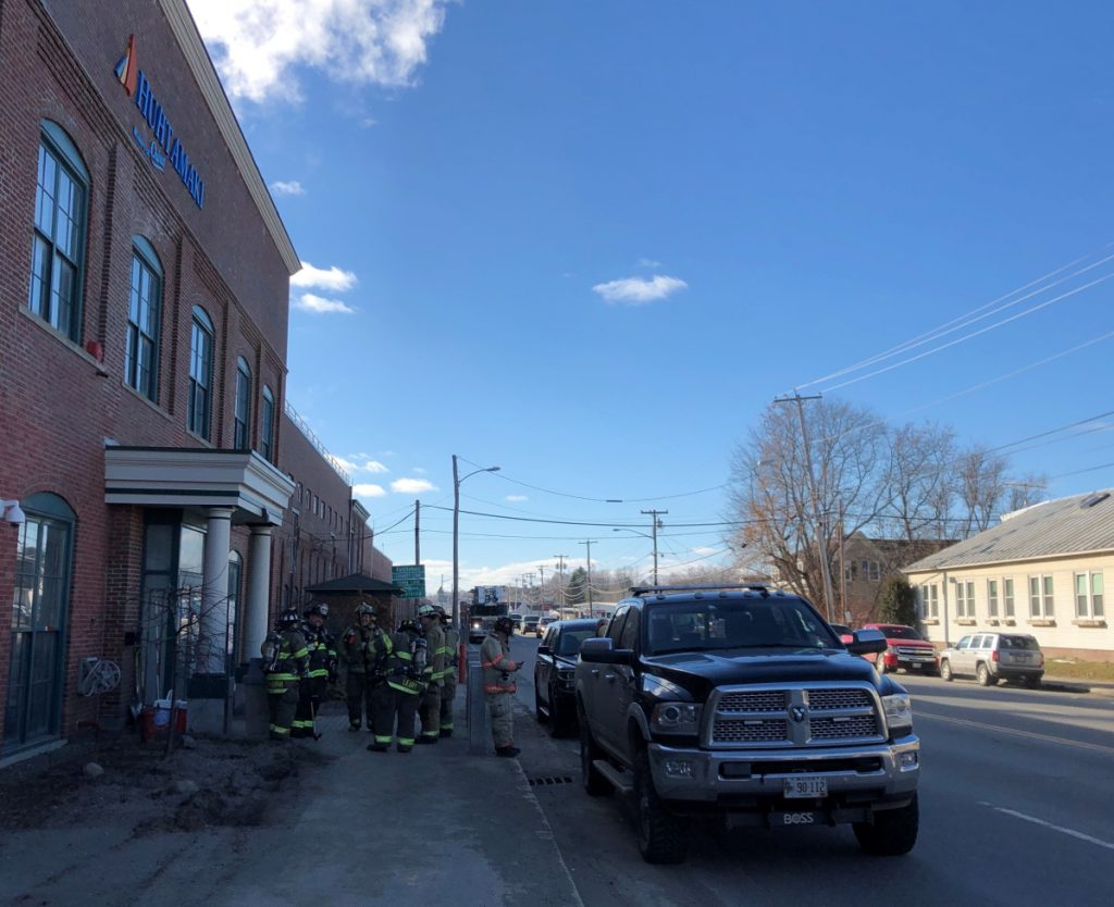 Firefighters from Waterville, Fairfield and Winslow responded to reports of a fire Wednesday at the Huhtamaki paper product factory.