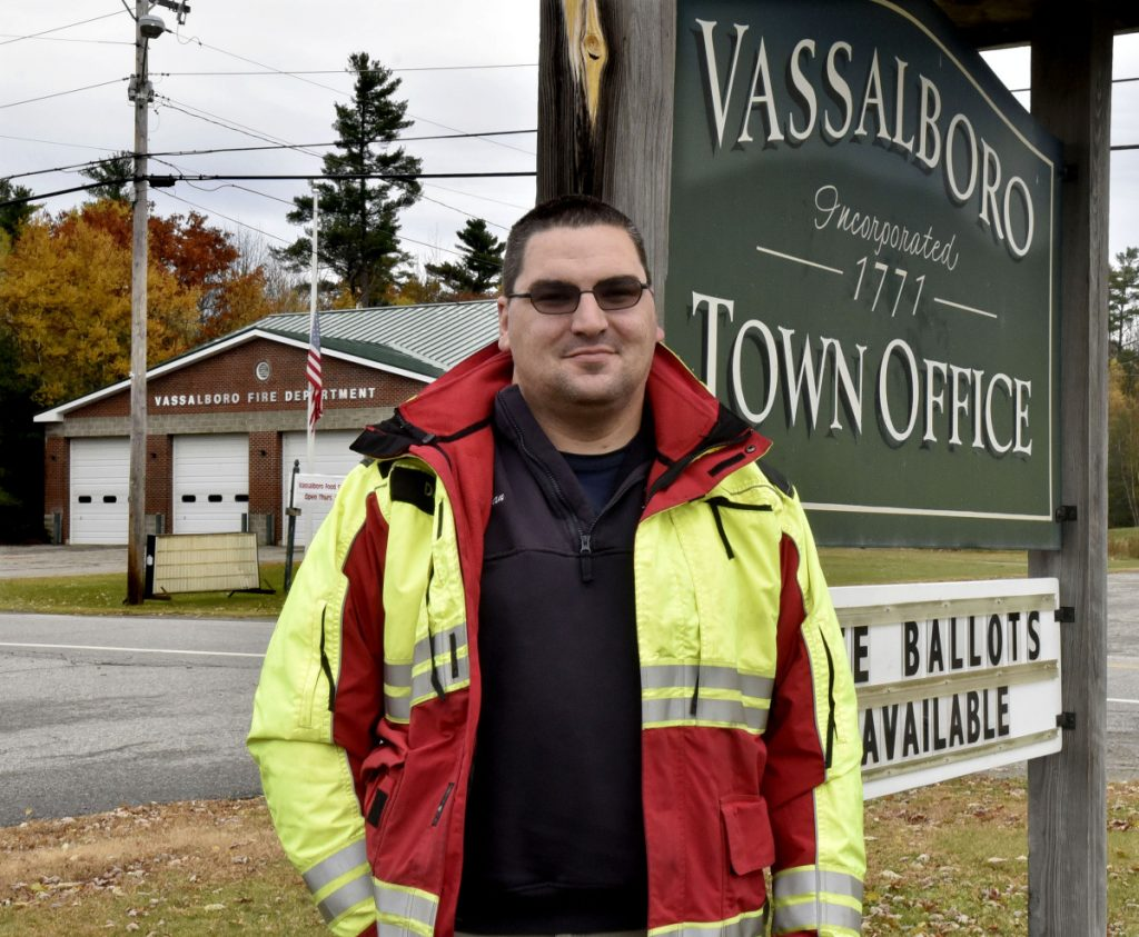Dan Mayotte, chief of the town of Vassalboro first responders, stands outside of the Vassalboro town office and fire department on Nov. 1. He said any upgrade to the town's communications system would be expensive, but switching to digital could have a positive impact once issues with the sheriff's department are settled.