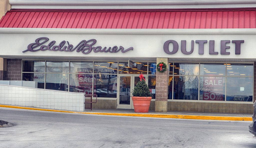 This photo taken Tuesday shows Eddie Bauer Outlet in Marketplace at Augusta.