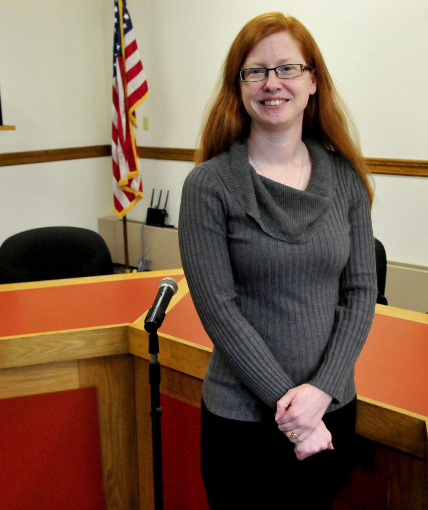 Skowhegan Town Manager Christine Almand, pictured on Dec. 22, 2015, said that money approved at a special town meeting Tuesday night for energy and infrastructure improvements will be recouped through savings that efficiencies will provide.