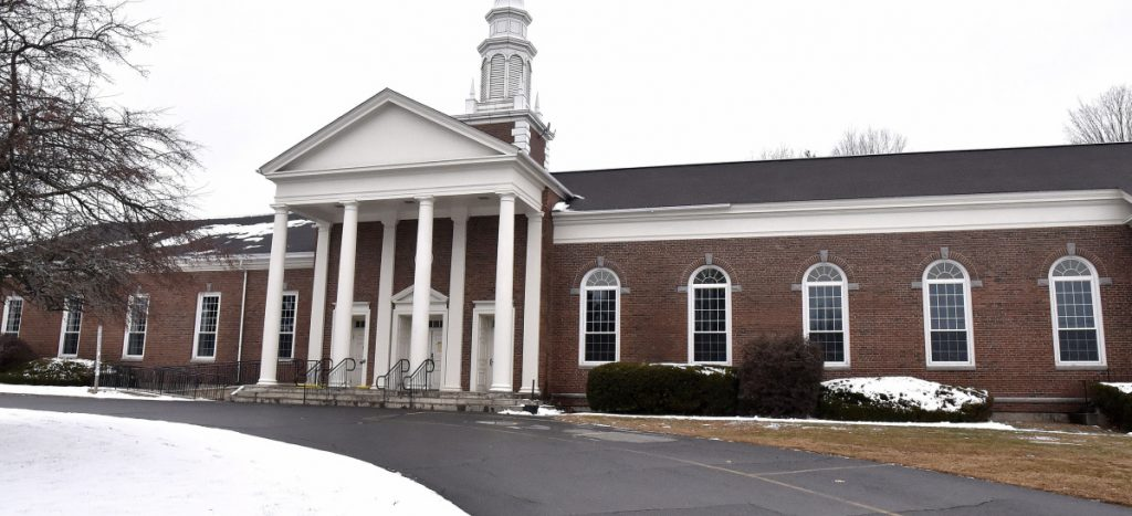 An exterior photograph of the First Congregational Church in Waterville on Nov. 19. The Children's Discovery Museum is hoping to lease the church with the intention of purchasing it to house the museum.