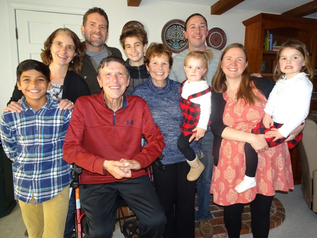 George Smith and his family at Thanksgiving.