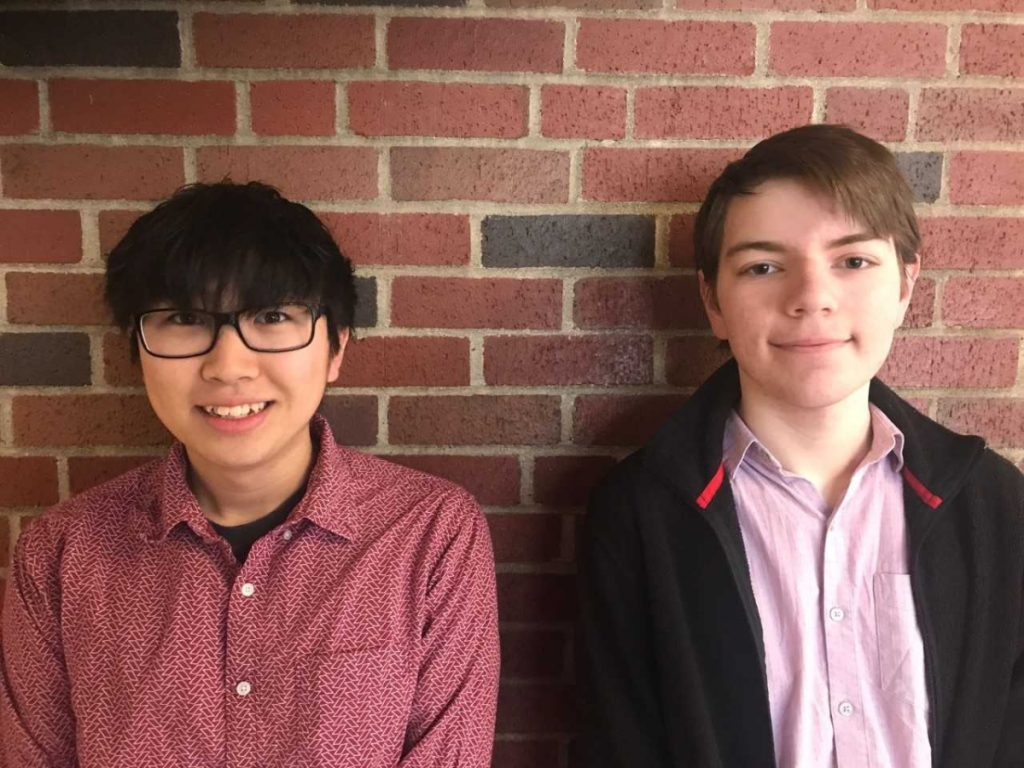 Kura Yamada, left, with Ethan Winters have been named two of 1,044 finalists in the 2018 QuestBridge National College Match.