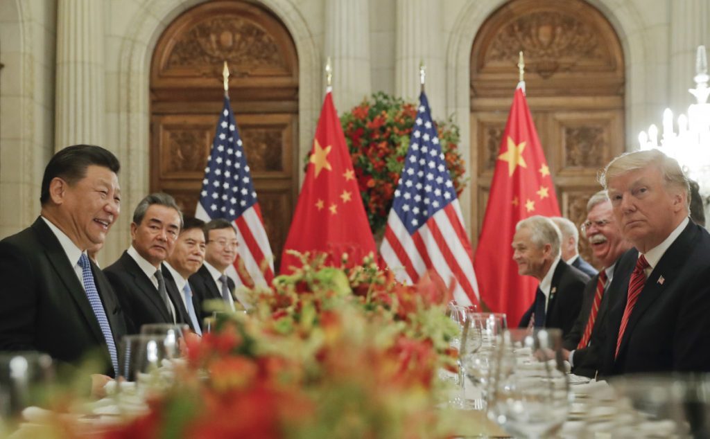 President Trump meets with China's President Xi Jinping at the G-20 Summit on Saturday in Buenos Aires, Argentina.