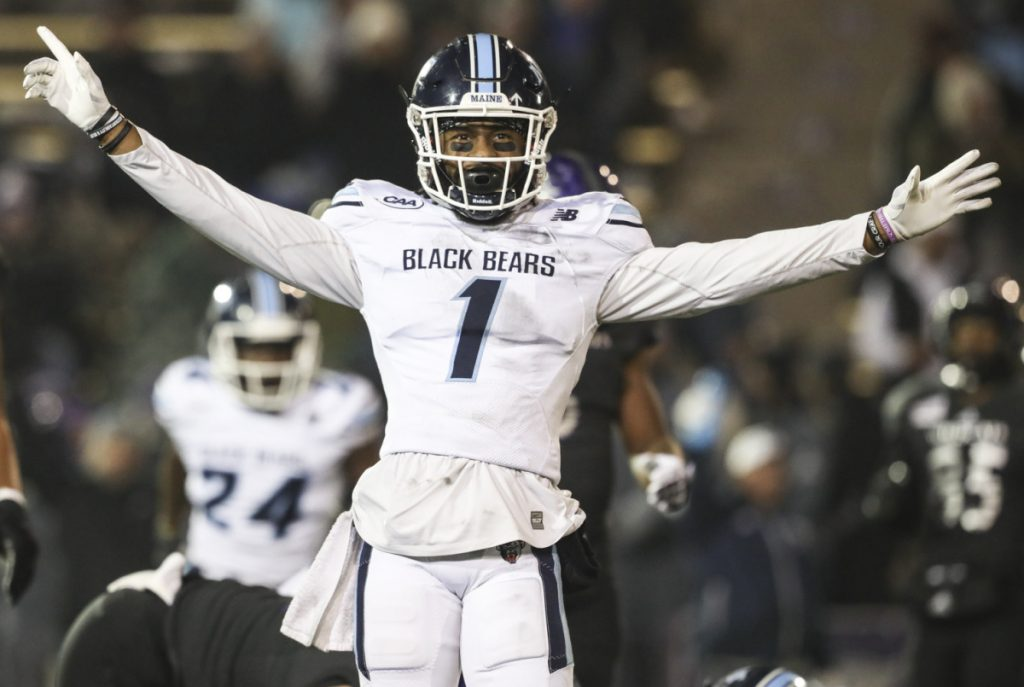 Cornerback Manny Patterson has covered the top receivers of the Black Bears' first two playoff opponents and limited them to a total of nine catches for 81 yards. He leads the nation in passes defended, with 24.