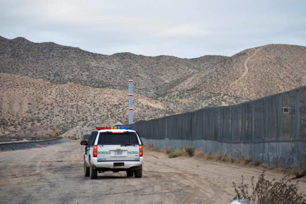 A U.S. Border Patrol agent patrols Sunland Park along the U.S.-Mexico border next to Ciudad Juarez. A 7-year-old girl who crossed the U.S.-Mexico border with her father died after being taken into the custody of the U.S. Border Patrol, federal immigration authorities confirmed Thursday.