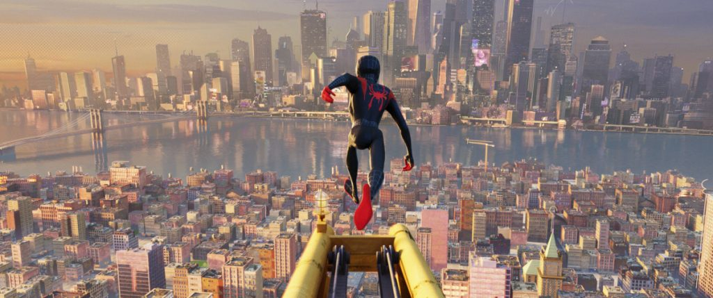 "A scene from ""Spider-Man: Into the Spider-Verse."""