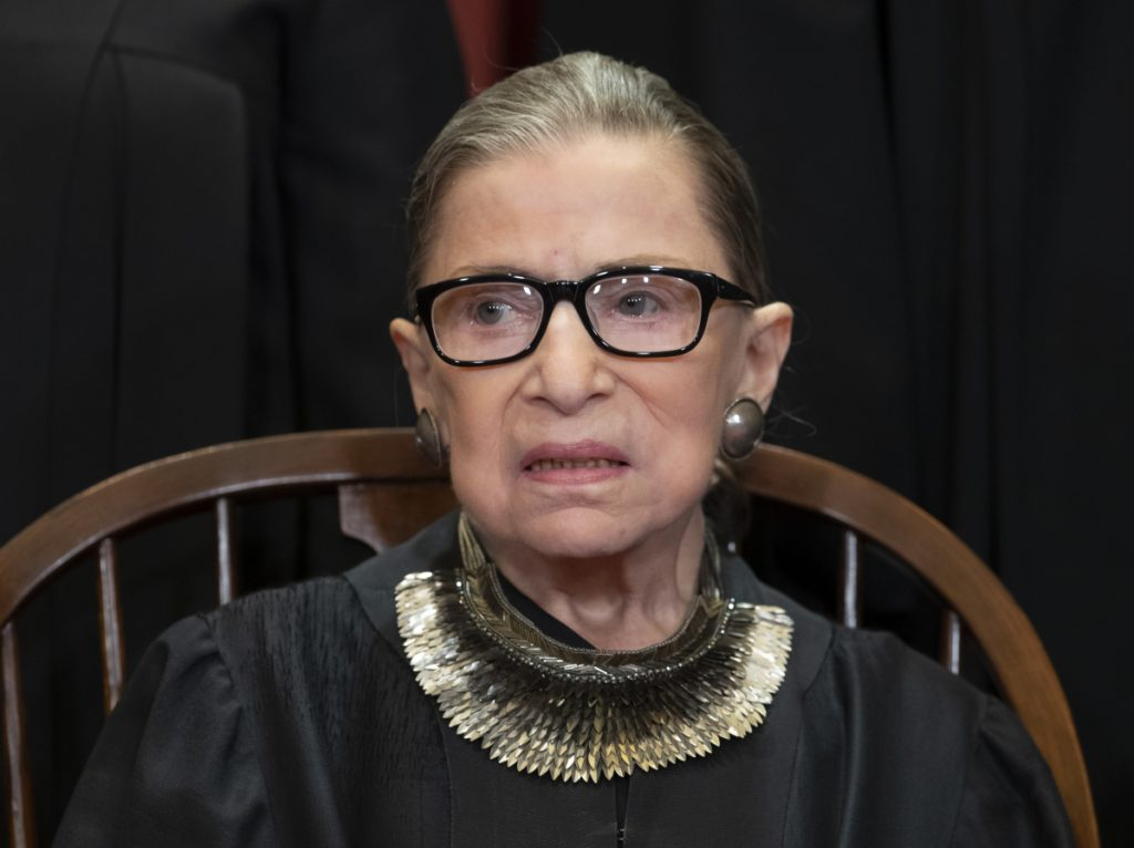 The Supreme Court says Justice Ruth Bader Ginsburg has undergone surgery to remove two malignant growths from her left lung. It is Ginsburg's third bout with cancer since joining the court in 1993.