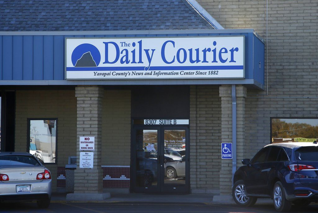 The Prescott Daily Courier, owned by Joseph Soldwedel, in Prescott, Ariz. in November.  Soldwedel and his wife Felice Soldwedel are locked in a bizarre divorce dispute that includes allegations of poisoning.