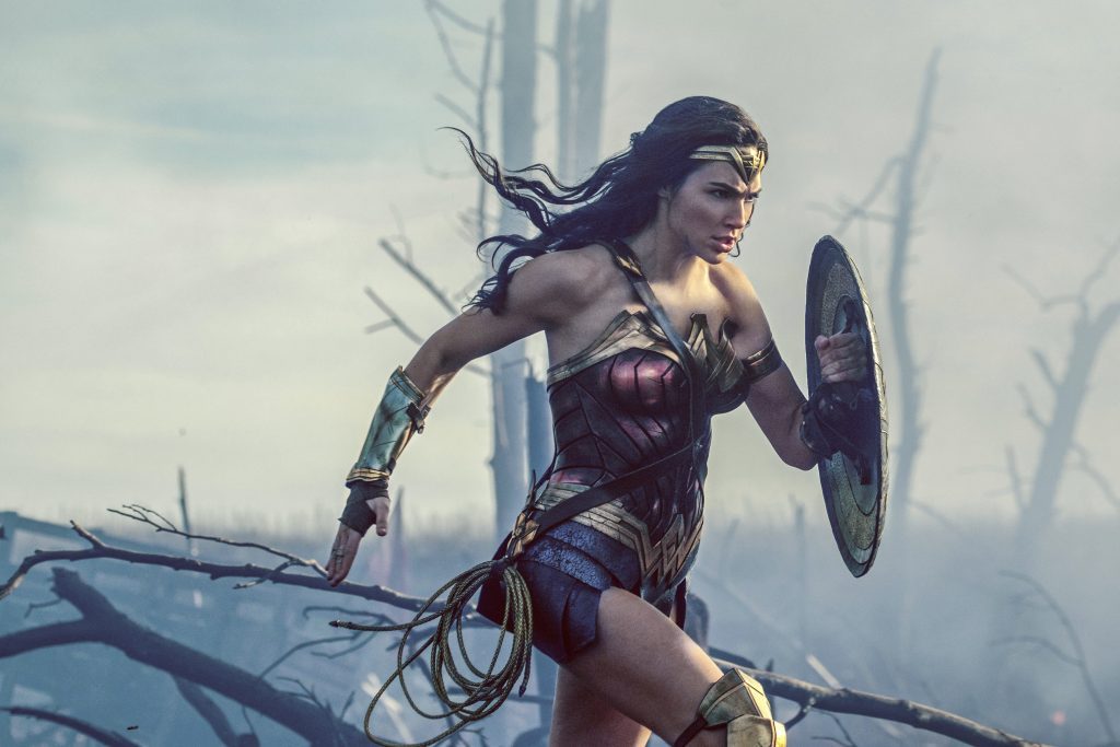 "This image released by Warner Bros. Entertainment shows Gal Gadot in a scene from ""Wonder Woman."""