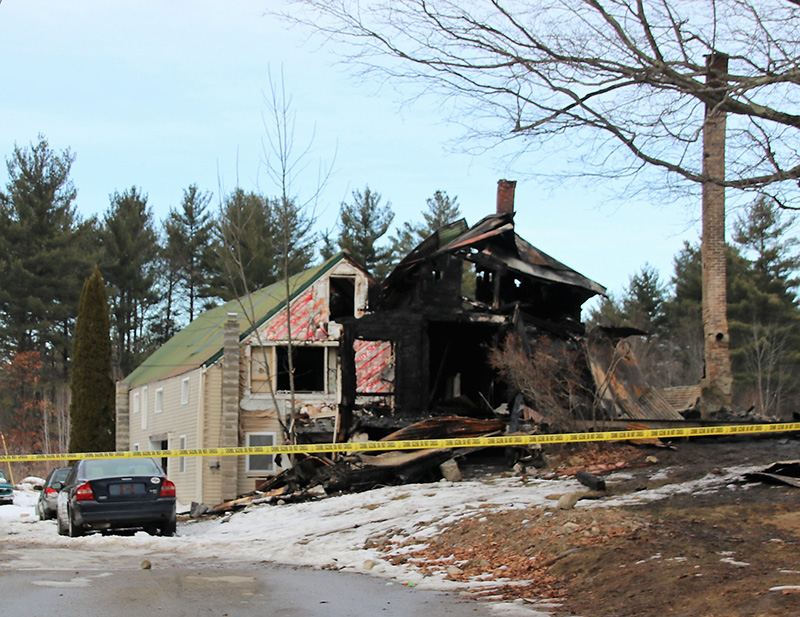 A house on Garvin Road in Acton burned Saturday morning.