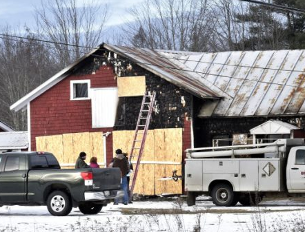 Saturday blaze destroys Pittsfield home and damages garage