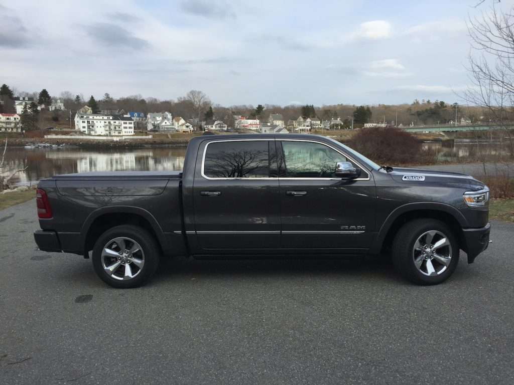 The Ram Limited ($56,197 to start, $68,390 as shown). Photo by Tim Plouff, at the Penobscot River in Bucksport.