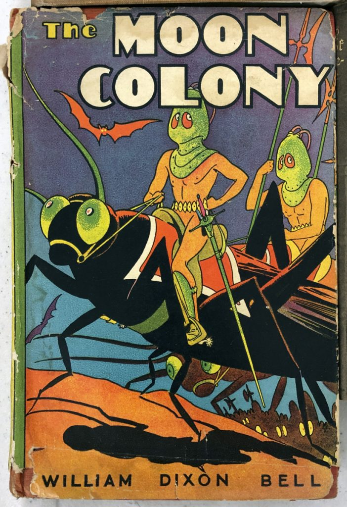 """The Moon Colony"" was one of the books for sale Tuesday at the Augusta Armory."