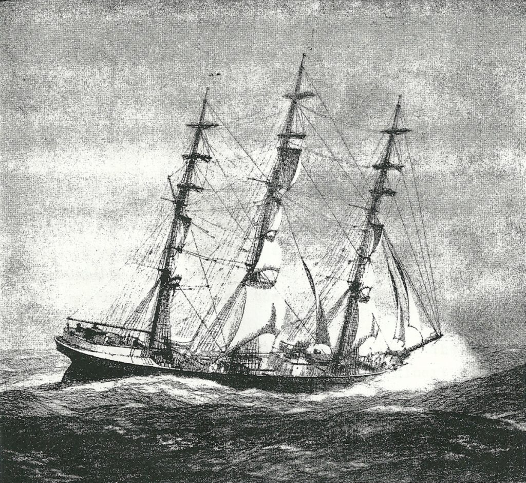 "The ship ""Bangalore"" which carried a couple from Searsport to San Francisco ""around the horn"" in 1906, for a honeymoon trip that was more adventurous than romantic."