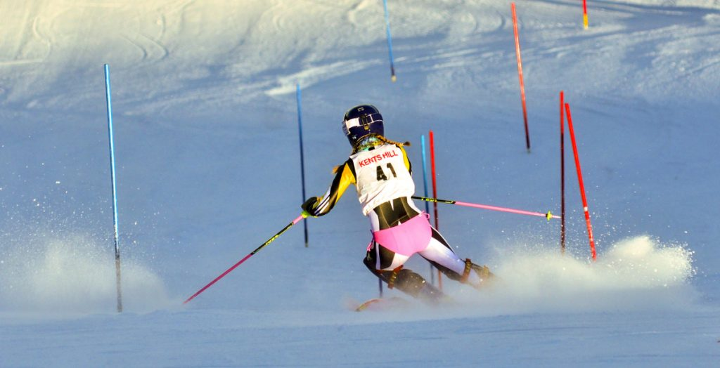 Maranacook's Emily Harper races during the Marlee Slaloms on Saturday in Kents Hill.
