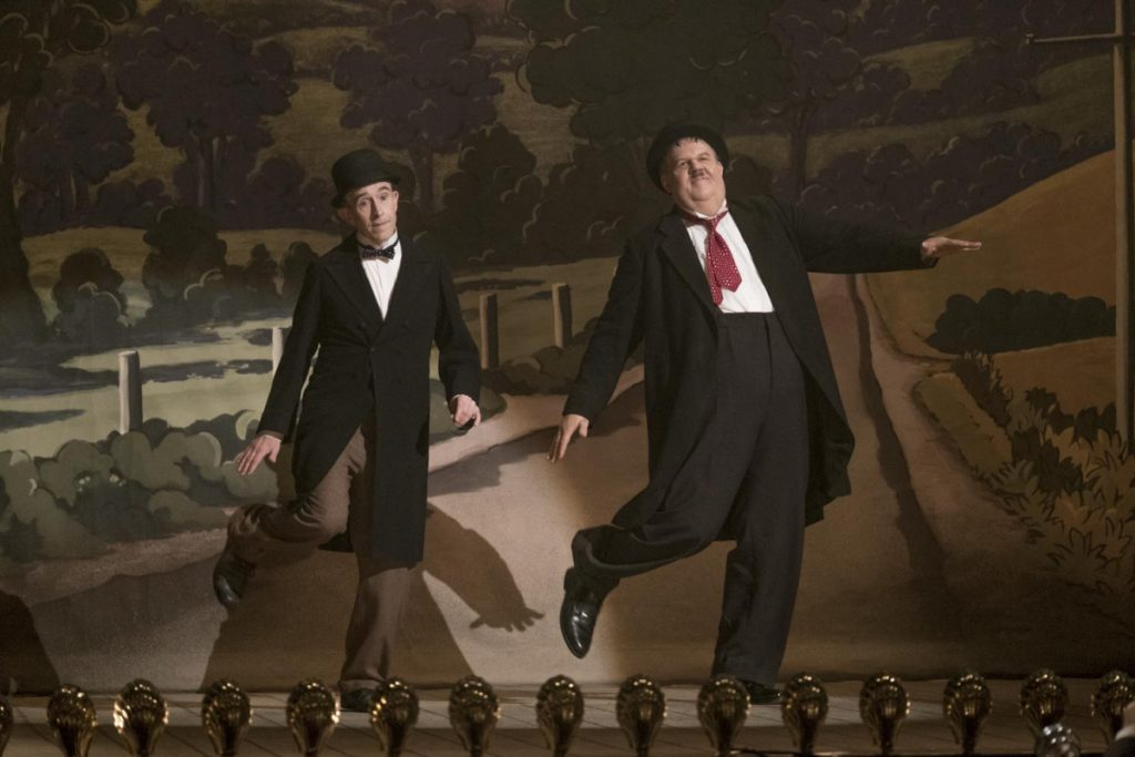 """Steve Coogan, left, and John C. Reilly in a scene from """"Stan & Ollie."""""""
