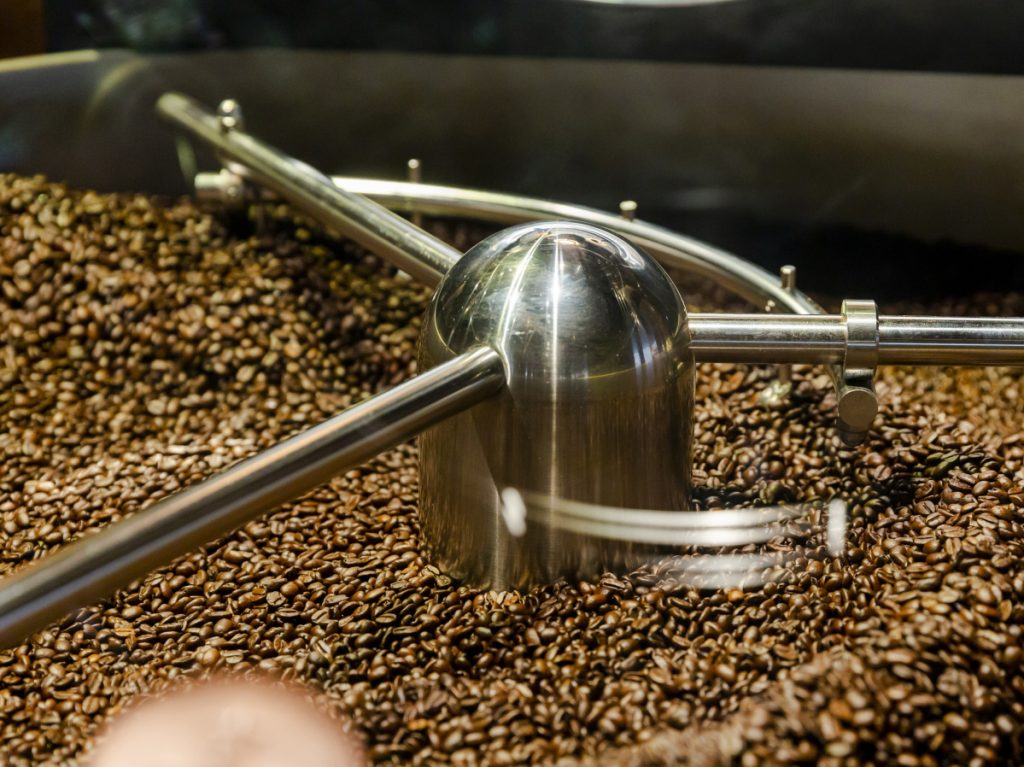 Coffee beans are processed at the Starbucks Corp. Reserve Roastery in New York. Coffee prices appear poised for an increase.