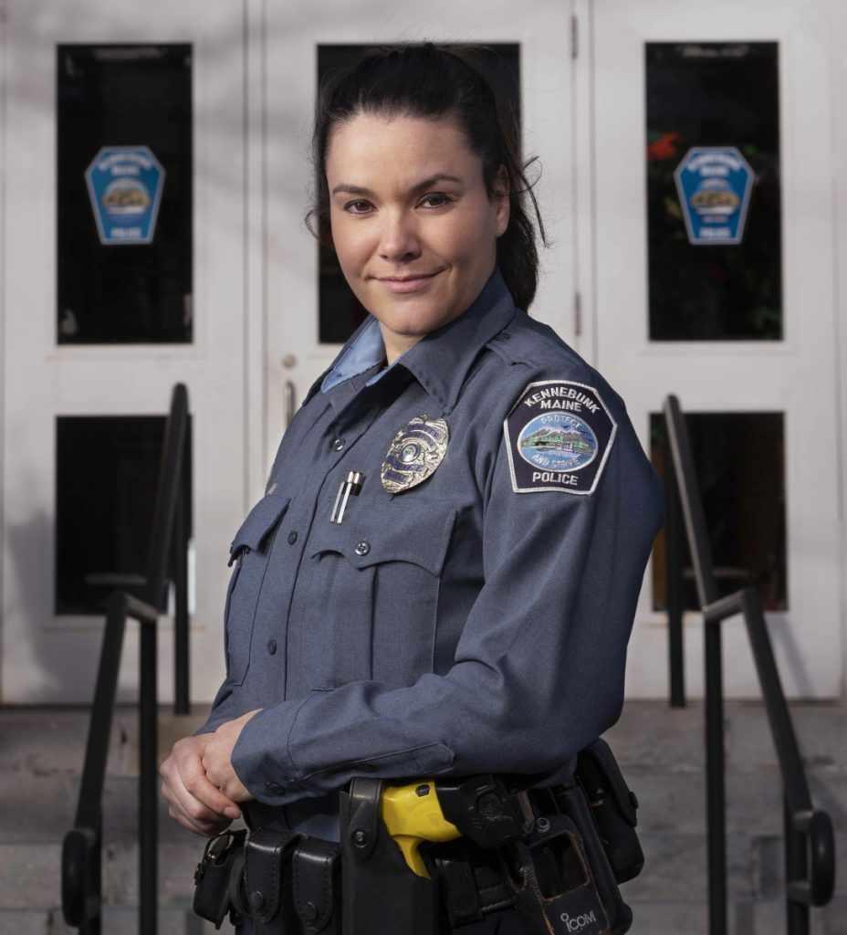 "Kennebunk police Officer Kaitlyn Sawyer says her recovery coach training helped her ""take that big, deep breath and be empathetic."""