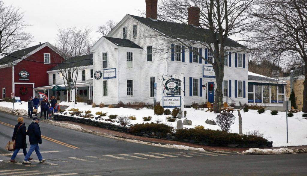The home of Jameson Tavern and Brahms Mount in Freeport is listed for $1.3 million. The tavern's owners plan to carry out their lease.