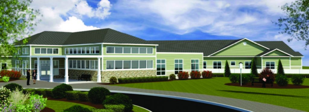A rendering shows the 94-bed elder care facility to be built at Sanford Medical Center. The facility is expected to have 30 memory-care beds and is scheduled to go open in the fall of 2020.