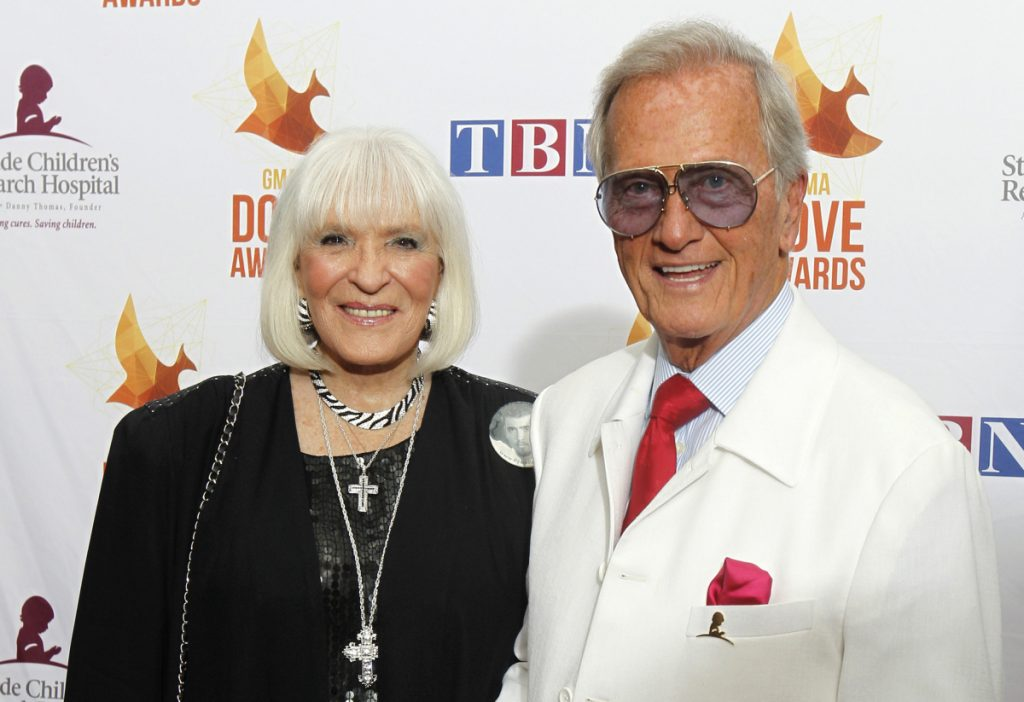 Singer Pat Boone and Shirley Boone dated in high school and then were married for 65 years. Shirley Boone helped to establish Mercy Corps, which has become an international charitable organization.