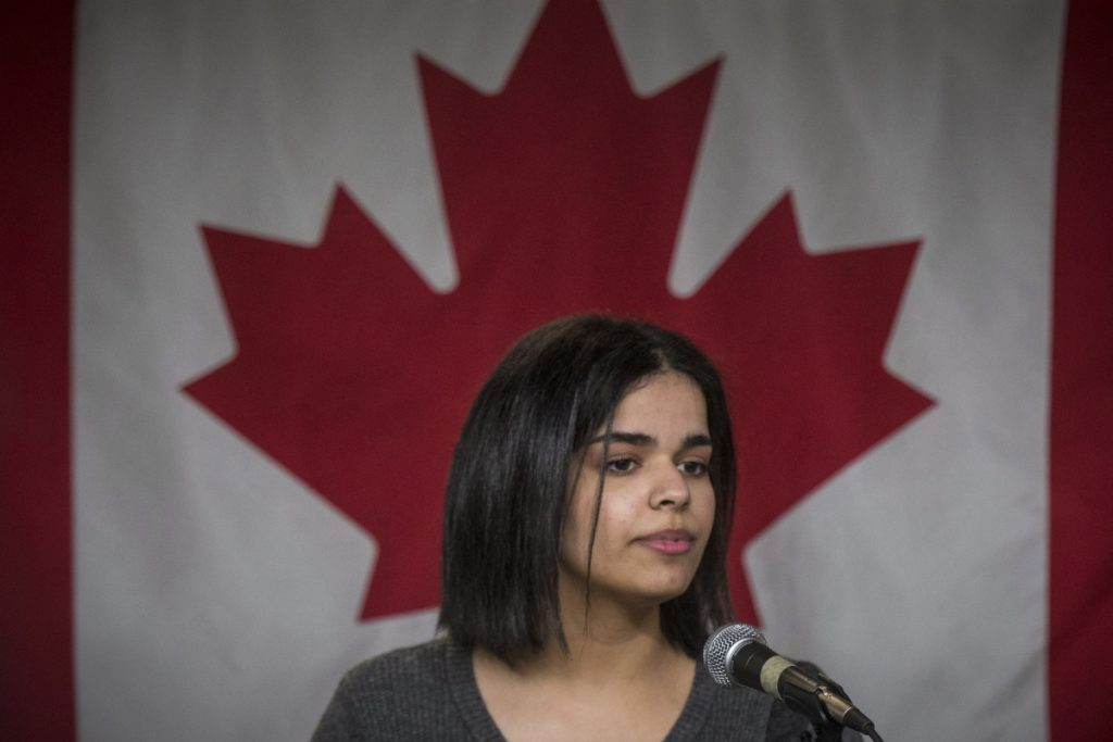 """Rahaf Mohammed, who dropped her family name of Alqunun, says she wants to """"work in support of freedom for women around the world."""""""