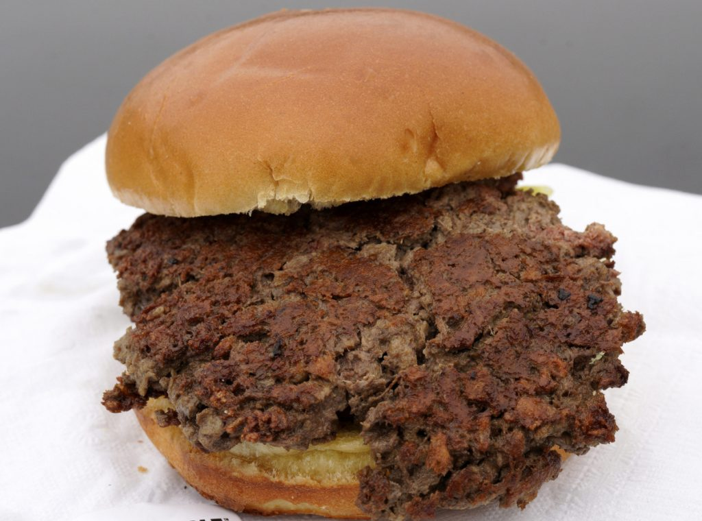 """The plant-based """"Impossible Burger"""" could figure in the """"Great Food Transformation."""""""