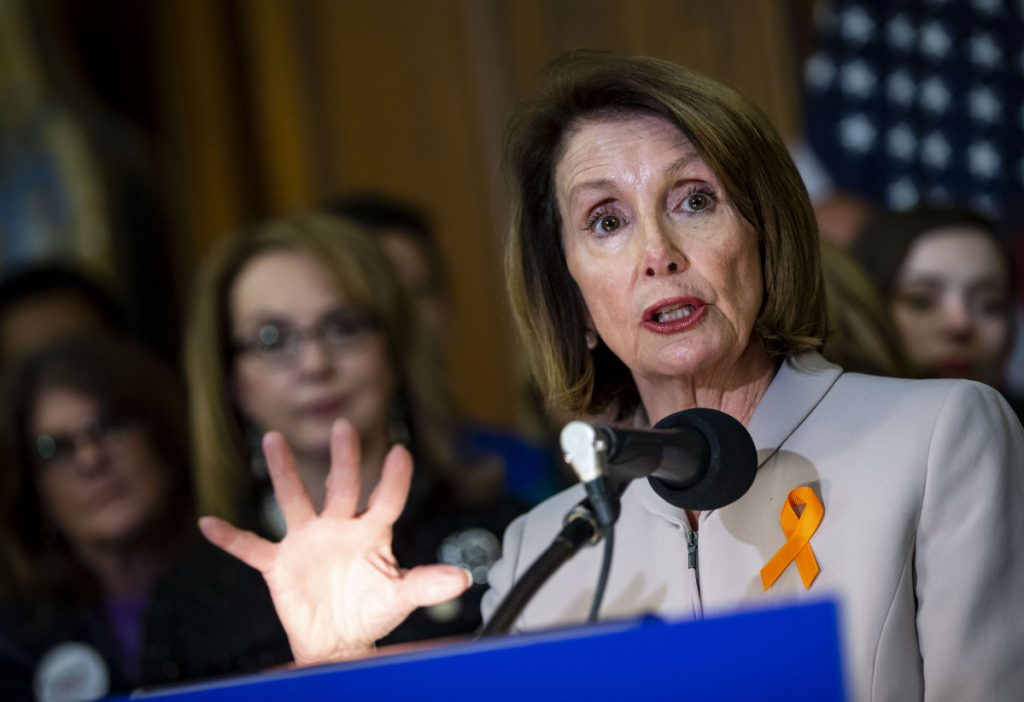 House Speaker Nancy Pelosi, D-Calif., says that President Trump caused a security risk.
