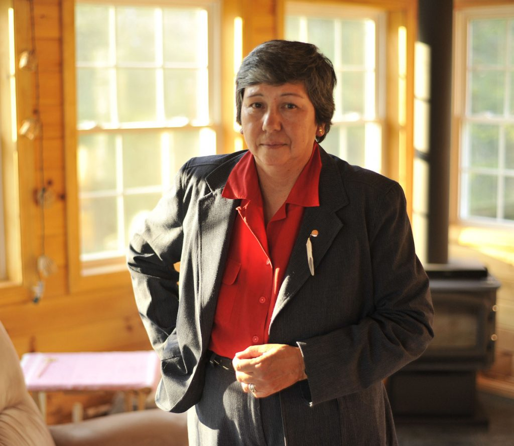 Donna Loring of Bradley, shown in 2008, served 12 years as the Penobscot Nation's representative to the Maine Legislature and is a former police chief and a recent member of the tribal council.