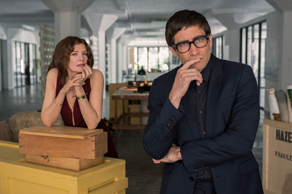"Rene Russo and Jake Gyllenhaal in Dan Gilroy's art world satire ""Velvet Buzzsaw."""
