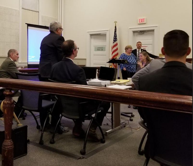 State prosecutors called six witnesses on Monday during the first day of the murder trial against James Ted Sweeney, formerly of Jay. He is accused of killing his former girlfriend, Wendy Douglass, 51, of Jay on July 11, 2017 in Jay.