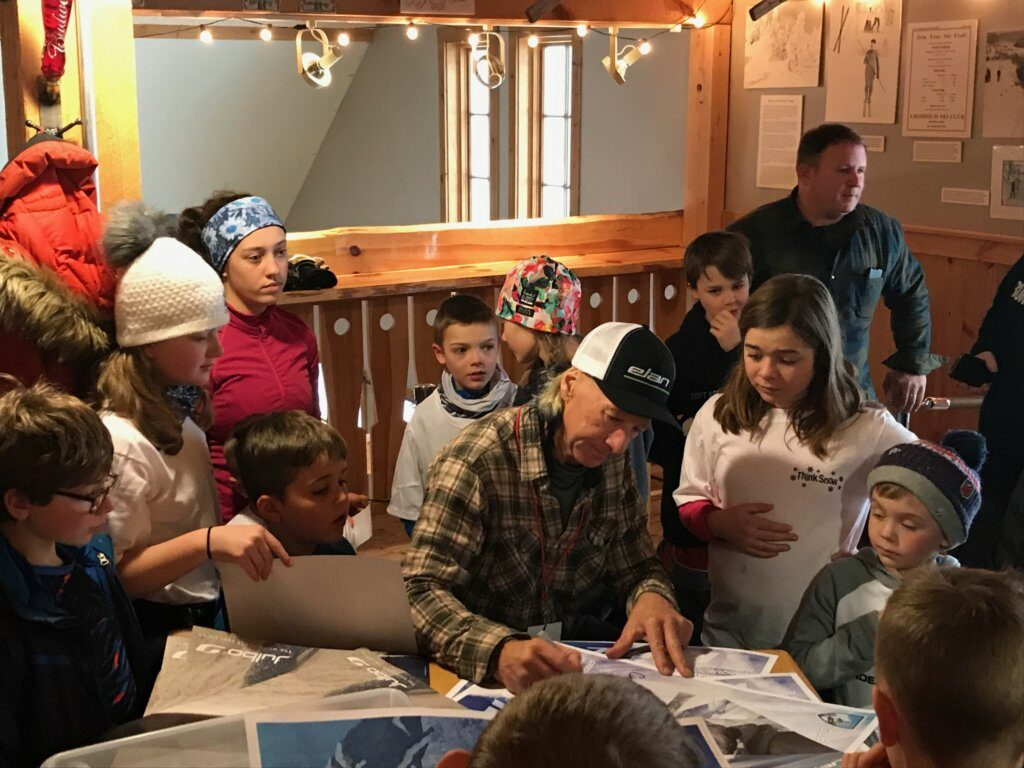 Extreme Skier Glen Plake signs autographs during his visit to Black Mountain of Maine in Rumford on Saturday, Jan. 19.