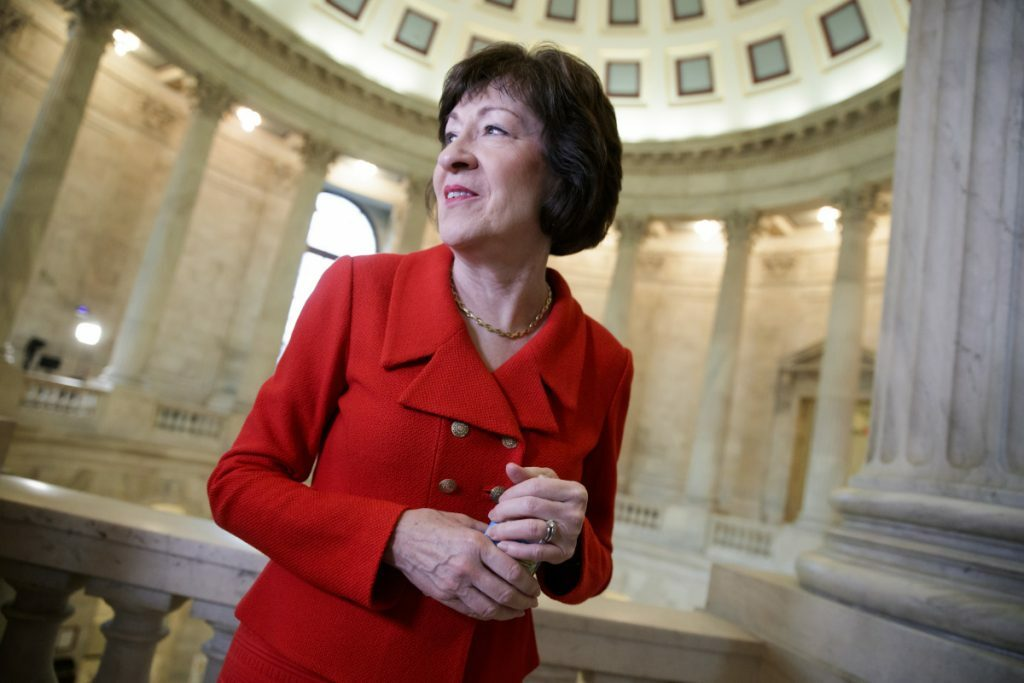 Sen. Susan Collins may face an opponent with at least $3.8 million raised through a crowdfunding campaign.