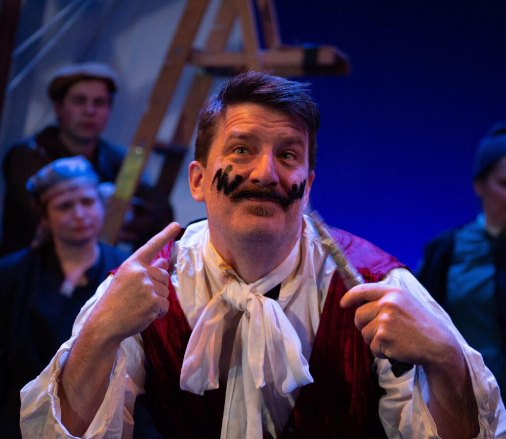 David Covell turned in a sophisticated comic performance as the pirate Black Stache.