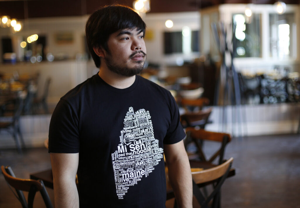 Darit Chandpen, owner of Mi Sen Noddle Bar, has been in the restaurant business for a long time, but had never been robbed until Saturday night when a person asked to use the restroom and came out with a knife.