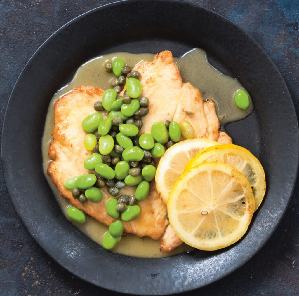 This recipe for Chicken Piccata serves four.