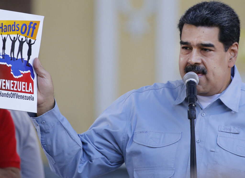 Venezuelan President Nicolas Maduro criticizes the United States on Thursday in Caracas Associated PressAriana Cubillos