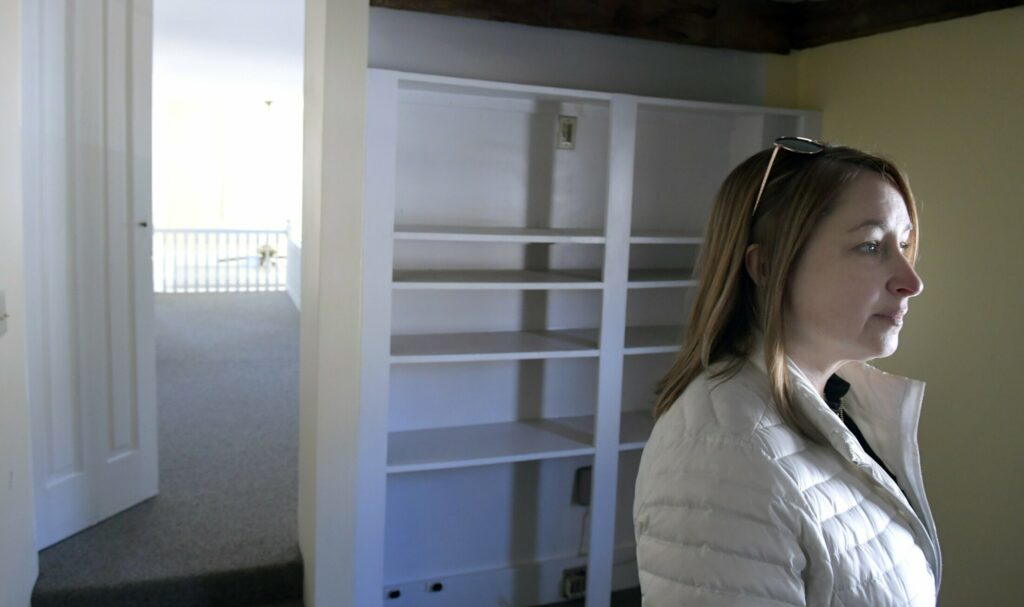 Jennifer Wood, the CEO off Blue Willow Counseling, on Sunday in a second floor room at 103 Winthrop Street in Augusta.