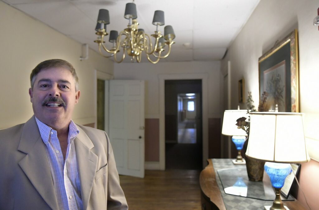 Augusta landlord Larry Fleury recently sold most of his portfolio of Augusta properties, including the Edwards House. He said Thursday that he plans on staying in Augusta.