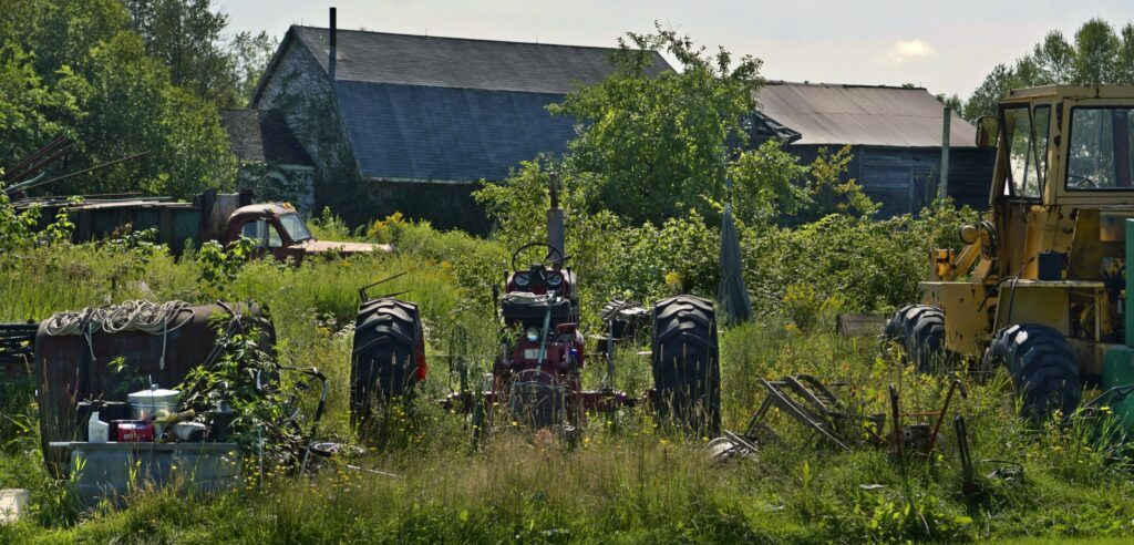 A variety of objects adorn the lawn of David Smith's residence on the Alexander Reed Road in Richmond in this Aug. 21, 2018 photo. The town has declared the property a junkyard and is planning to have it cleared of the items.