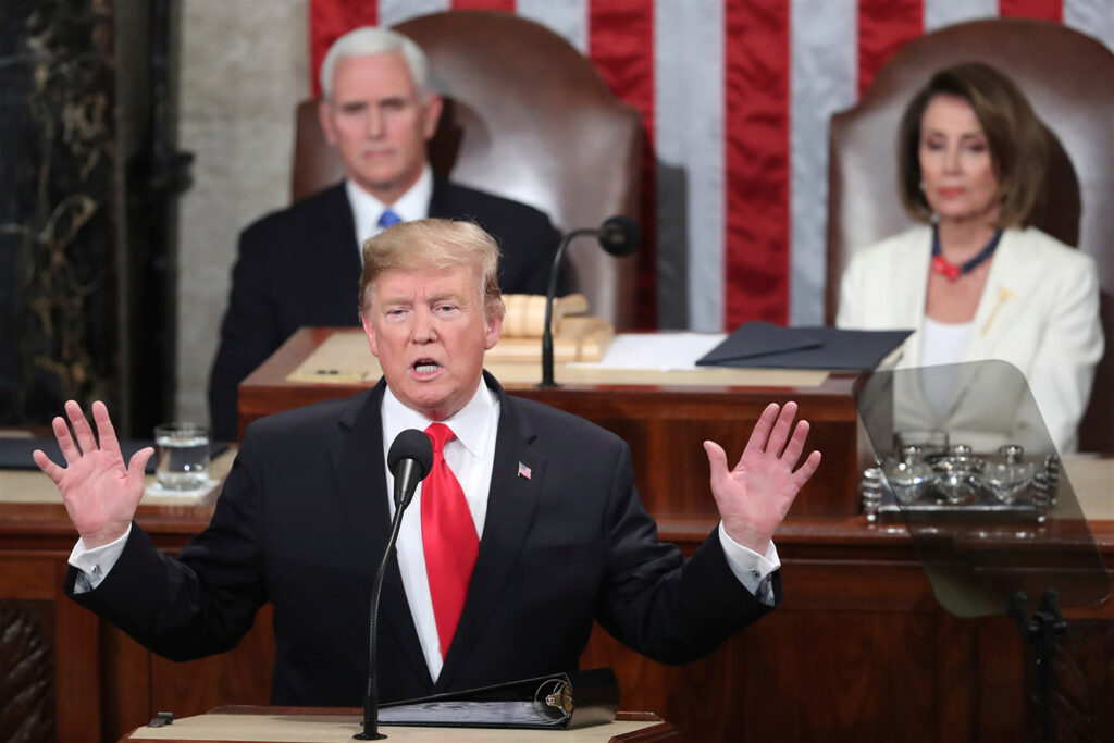 President Trump delivers his State of the Union address Feb. 5. According to lawmakers and aides,  bipartisan talks aimed at averting that outcome broke down in a dispute over immigration enforcement on Sunday.