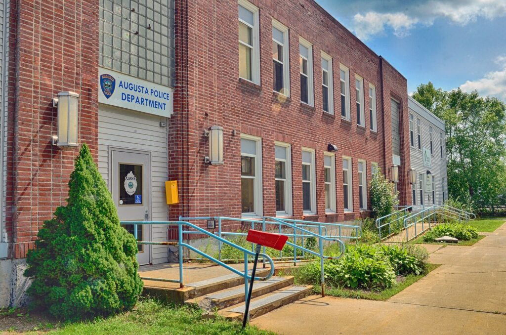 The Augusta Police Station is seen Aug. 21, 2018, in Augusta. Officials say the Union Street facility is outdated and in need of a replacement.