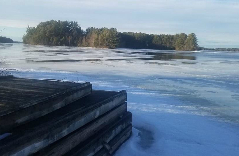 Grand Falls Flowage across from Squirrel Point boat landing where a man was rescued on Tuesday.