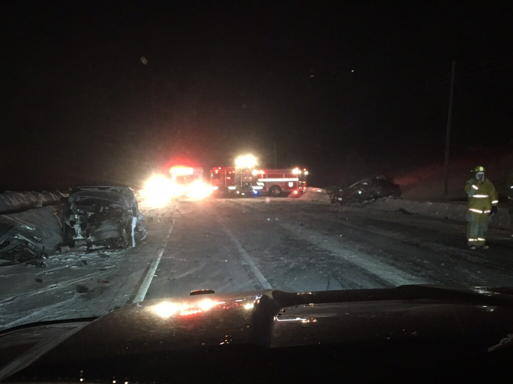 A Harmony man was killed Monday night in a head-on crash in Bingham 1.5 miles north of the state rest area on U.S. Route 201. Michael Handy, 46, was pronounced dead at the scene
