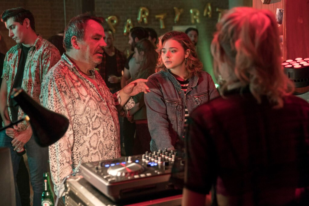 "Director Neil Jordan, left, and actor Chloë Grace Moretz on the set of ""Greta,"" a Focus Features release."