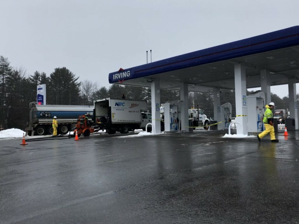 The fuel pumps at the Exit 43 Quik Stop in Richmond, which were closed because of a mix-up in fuel delivery when this photo was taken Friday, have reopened.